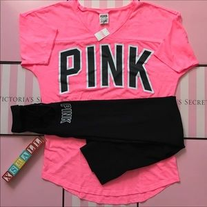 2 Pieces XSMALL PINK Outfit Set